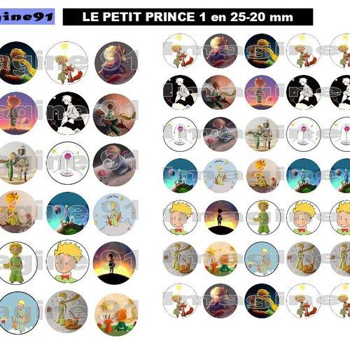 Planche d'images digitales le petit prince en 25-20 mm
