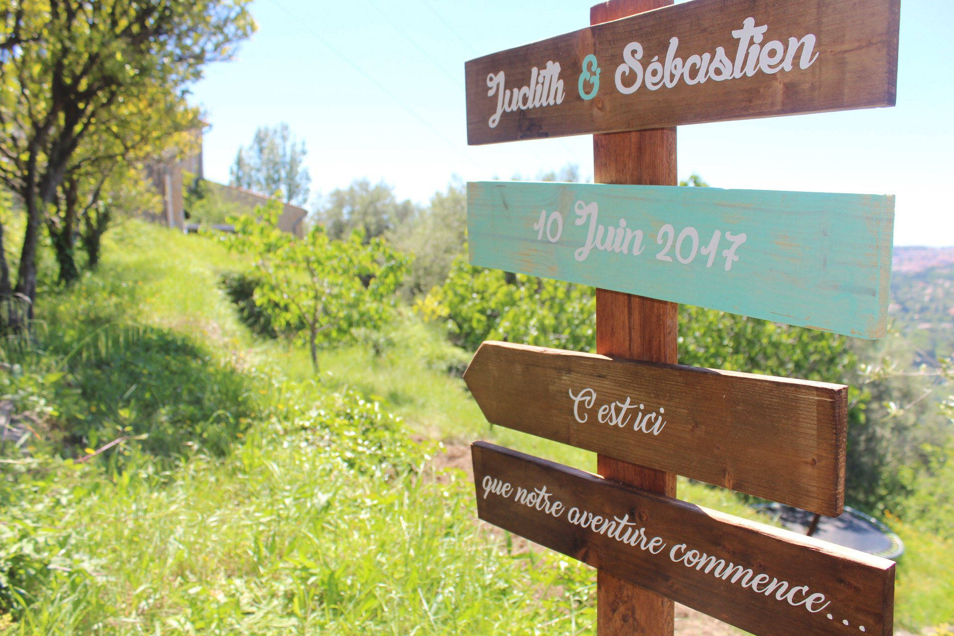 Panneaux directionnels à personnaliser, panneau en bois, flèche mariages, signaletique, pancartes champêtres