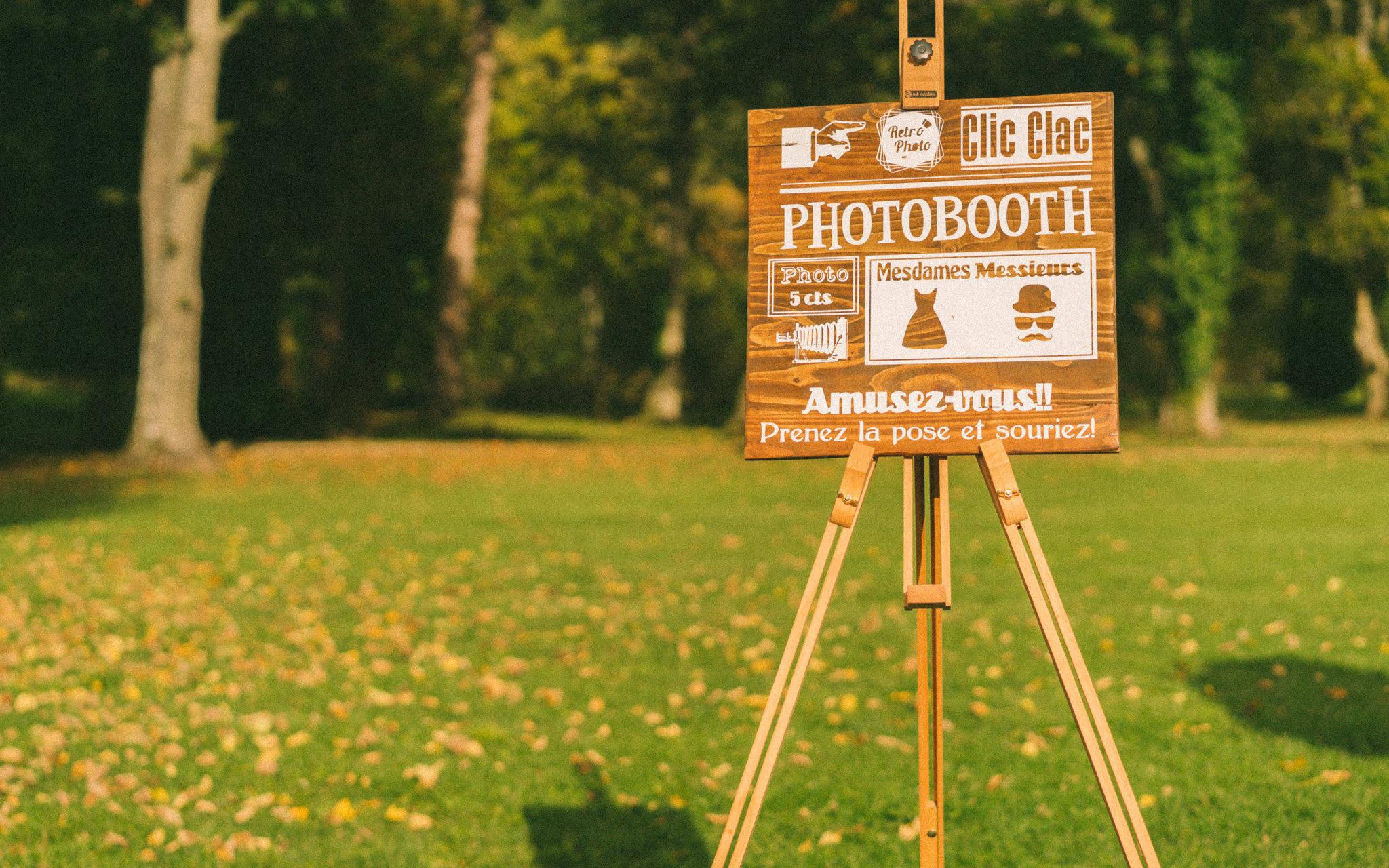 Panneau Photo Booth en bois, pancarte photo vintage