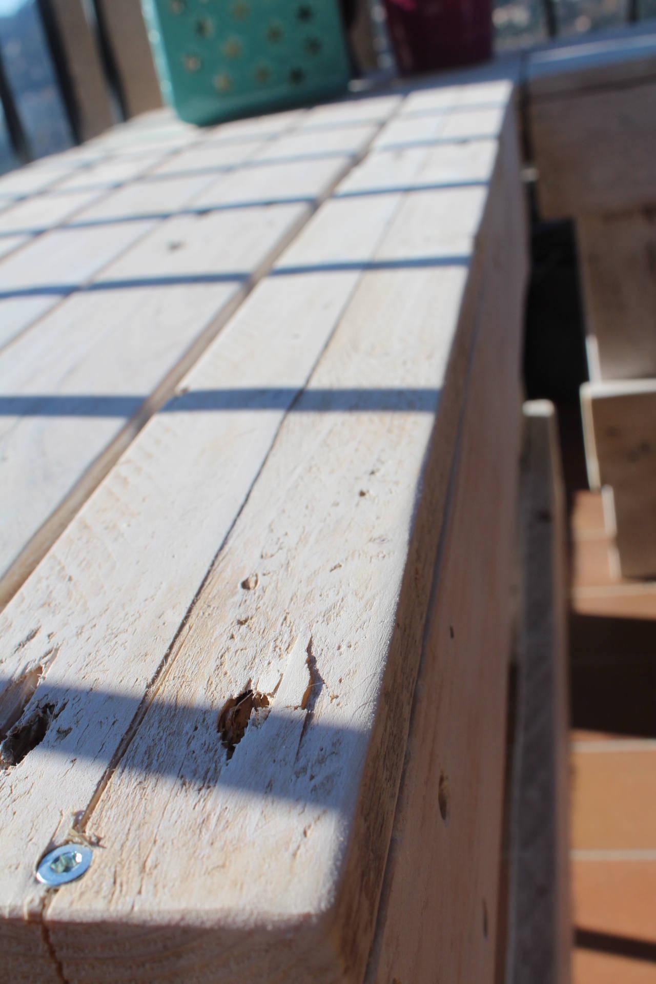 Banc en Palette sans dossier, mobilier de jardin, banc vintage en bois, meuble en palette