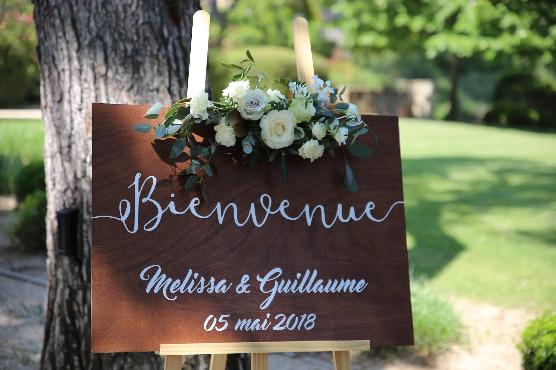 Panneau d'accueil mariage personnalisable, Panneau bienvenue, Pancarte en bois