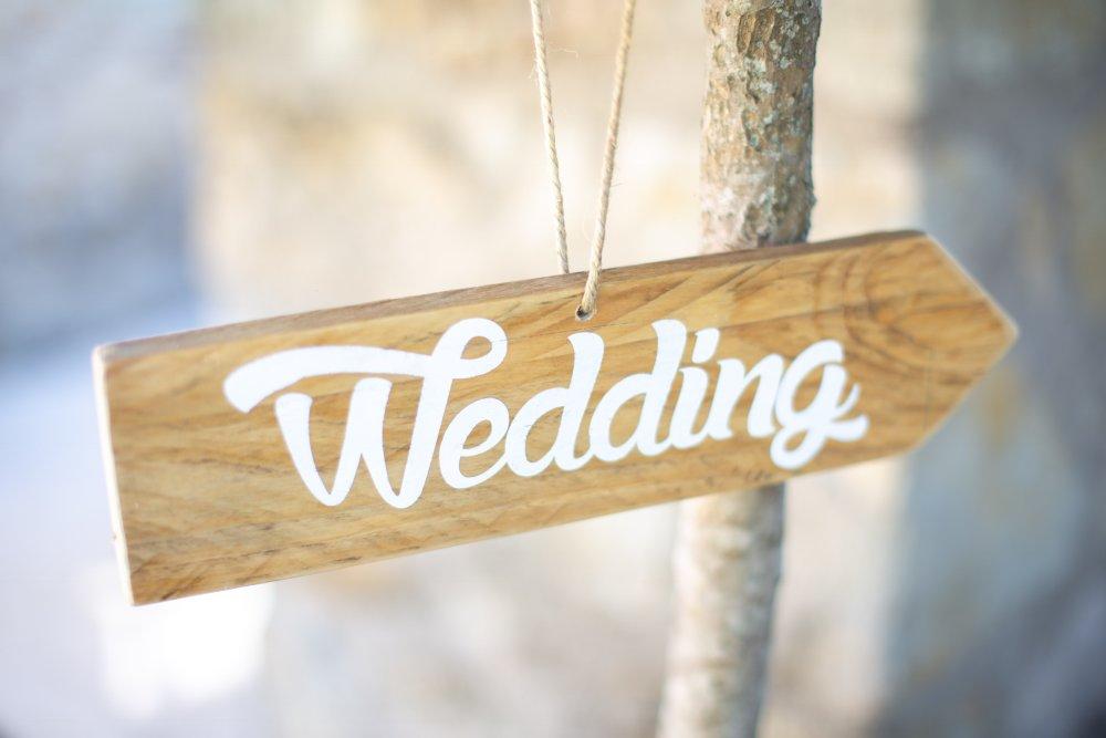 Panneaux directionnels à suspendre, panneau en bois, flèche mariages, pancartes champêtres à suspendre