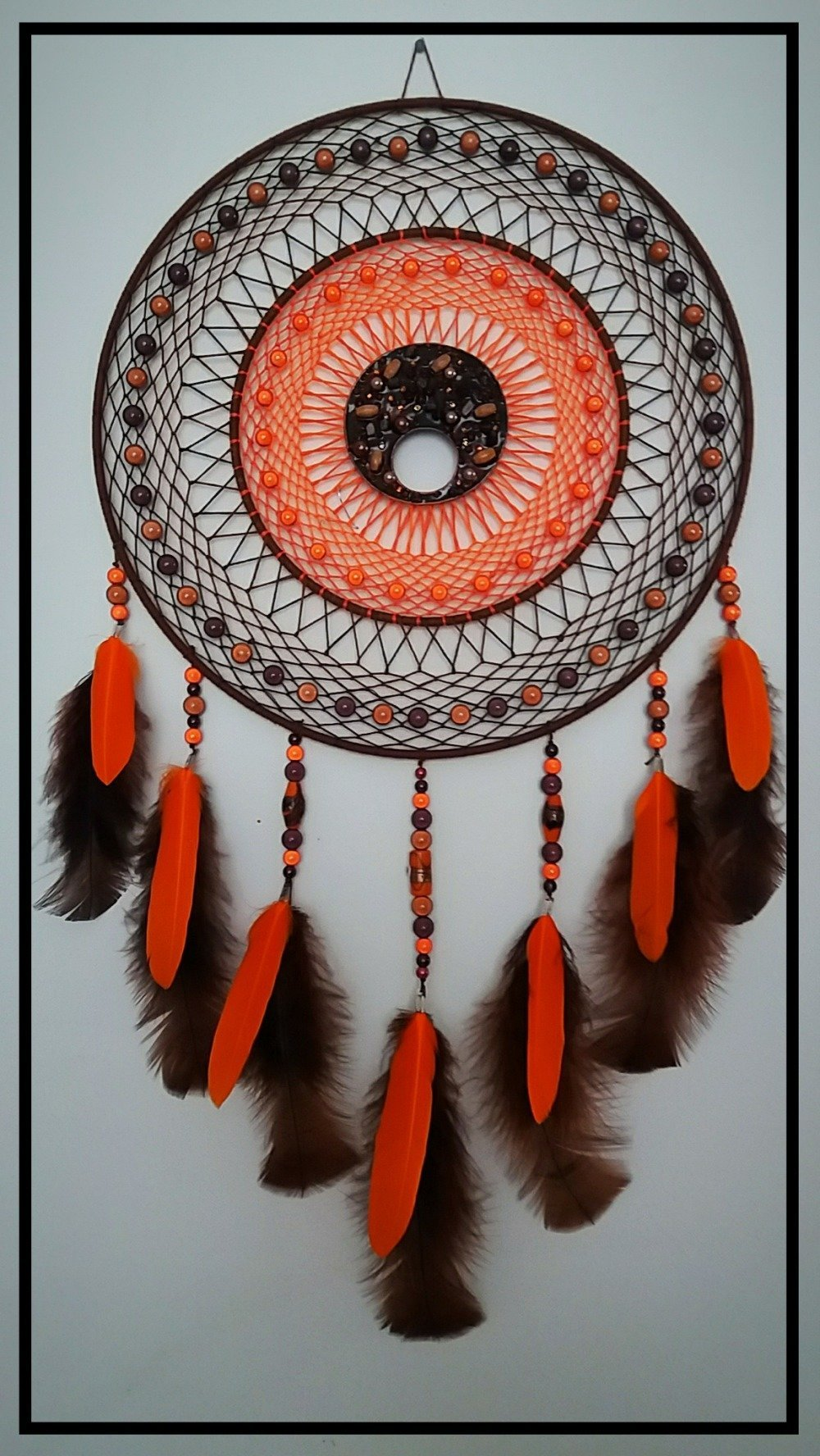 attrape rêves orange et marron