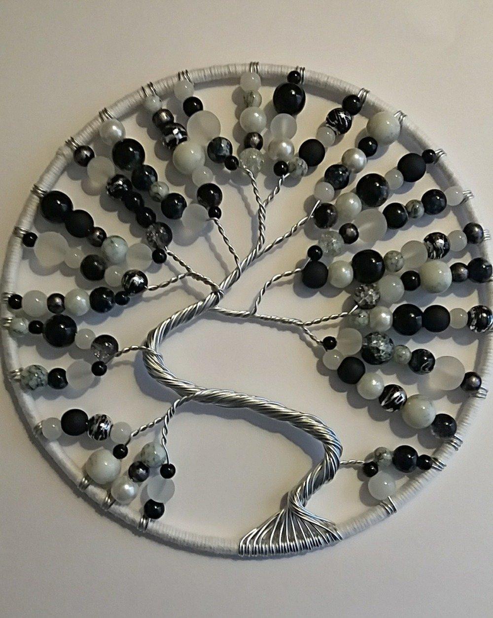 arbre de vie noir et blanc
