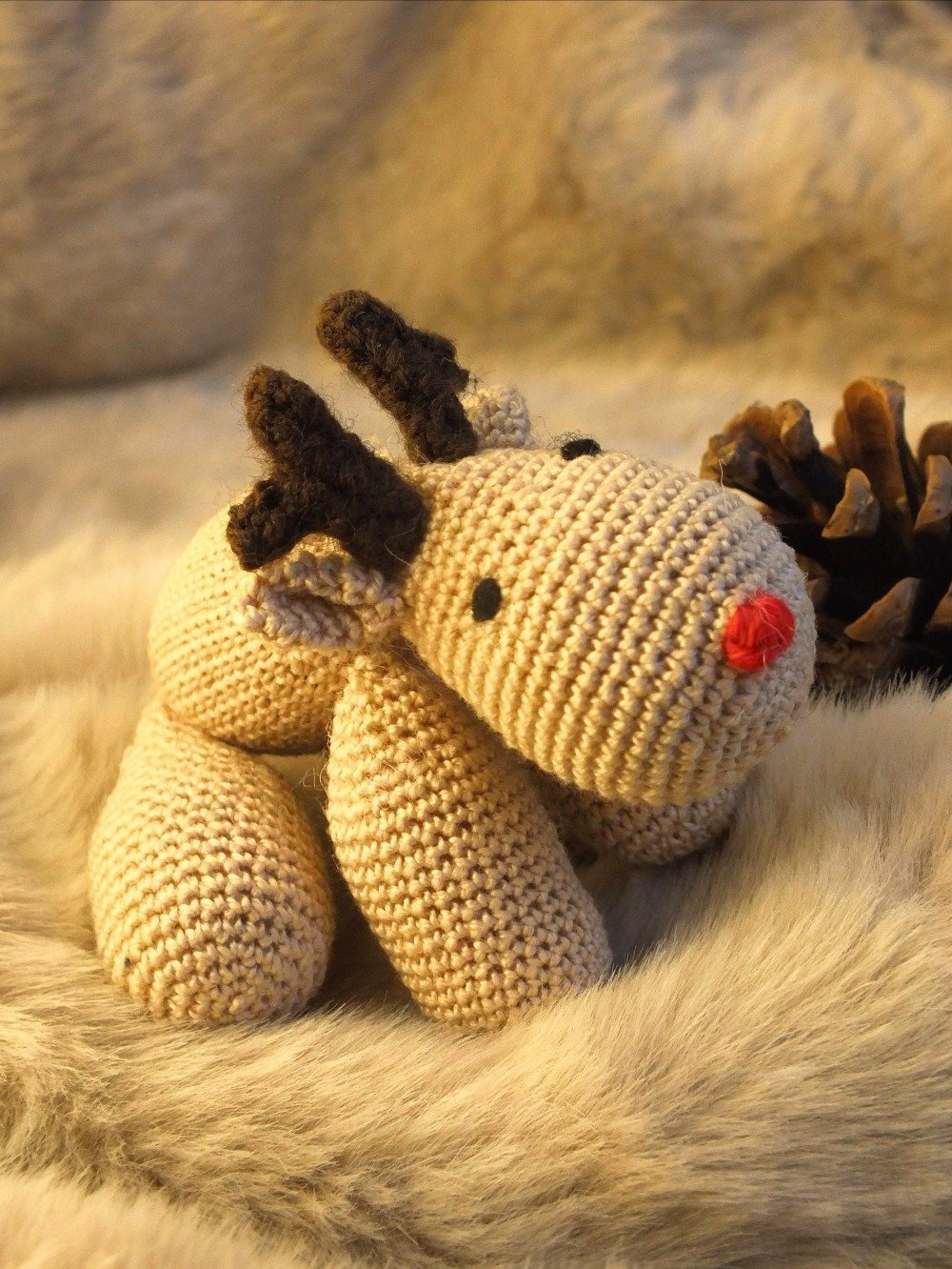 Poupée Noel et son animal au crochet