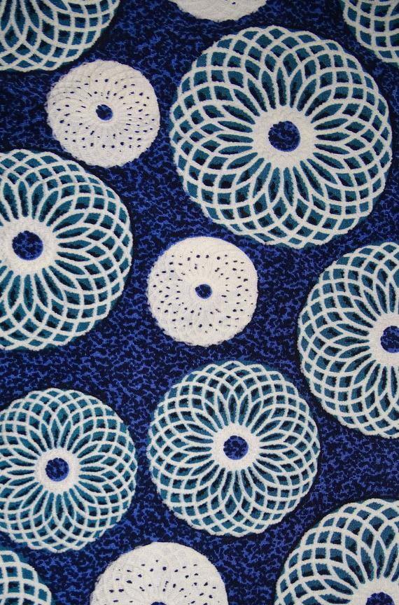 Tunique asymétrique ' blue bubbles ...'
