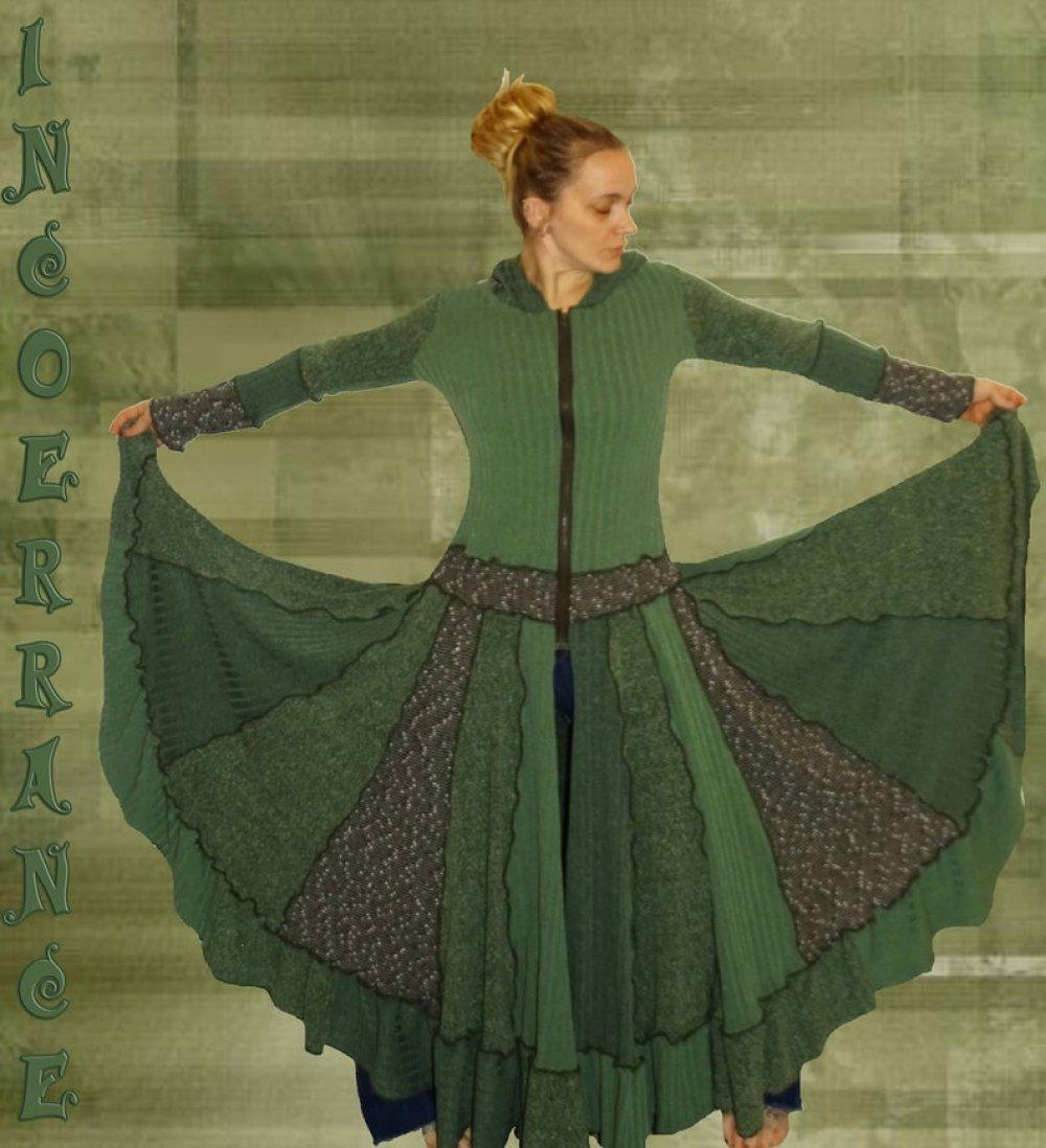 Manteau en Patchwork , manteau long , ' Natura ...'