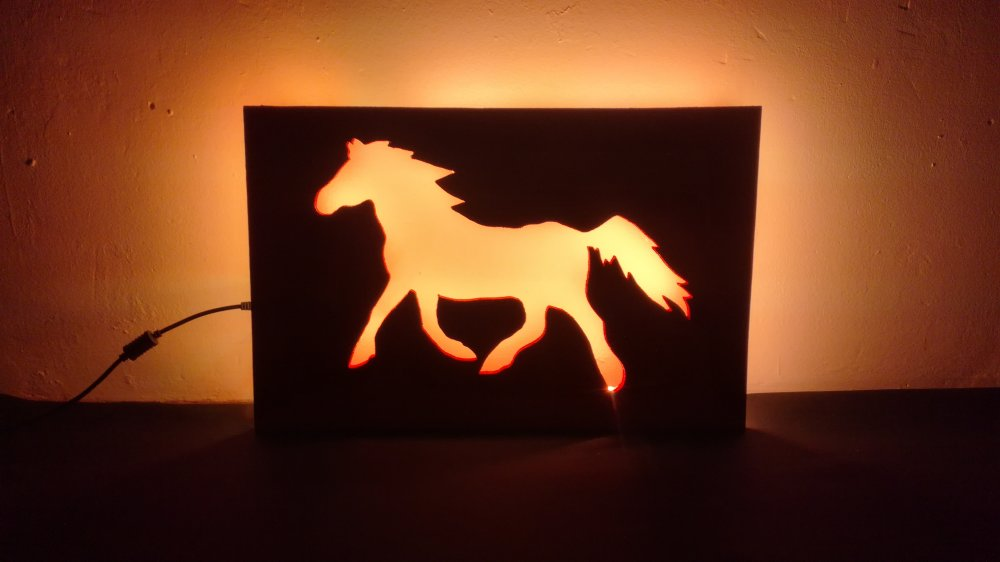 Lampe LED Cheval