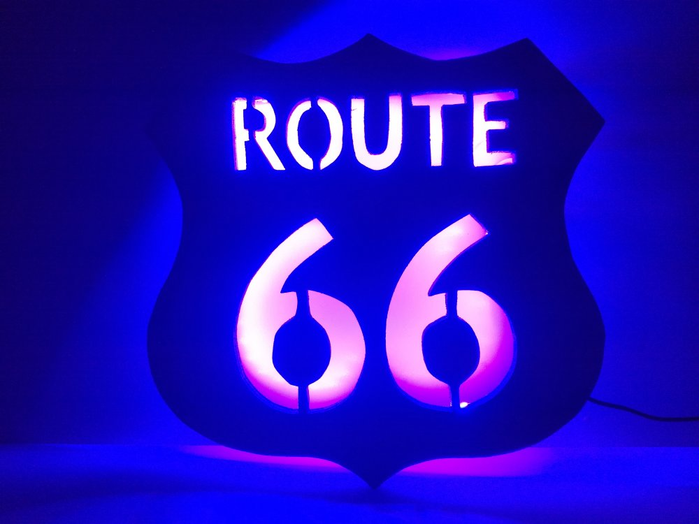 Lampe LED Route 66