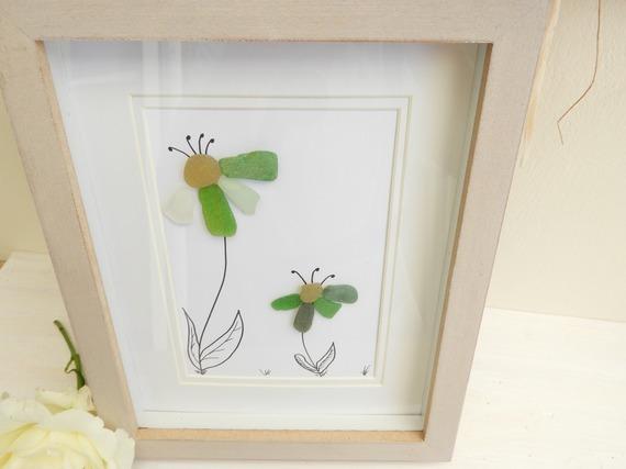 Décoration murale fleurs- Déco tableau verre poli