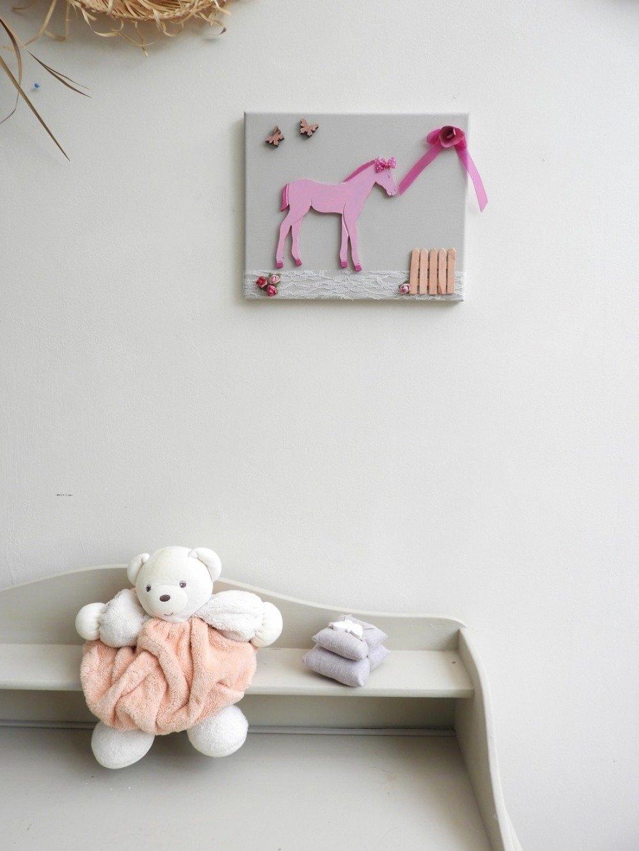 Deco Chambre Jeune Fille décoration chambre fille- tableau décoratif cheval- cadeau pour jeune fille