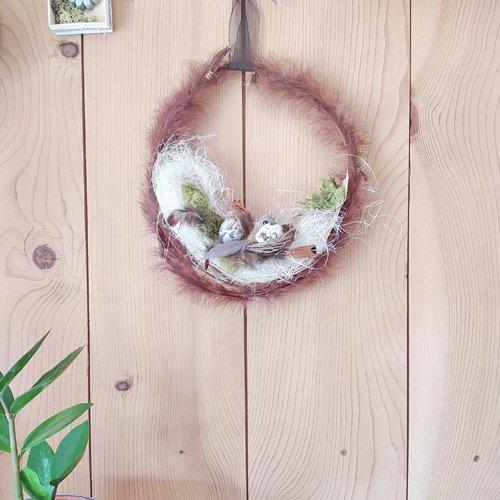 Couronne de porte durable pâques, décoration de pâques, idée cadeau