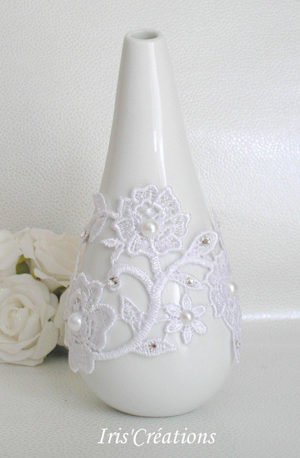 Bracelet Manchette Mariage Sofia dentelle guipure de venise  blanc cassé ivoire clair perles et strass de swarovski