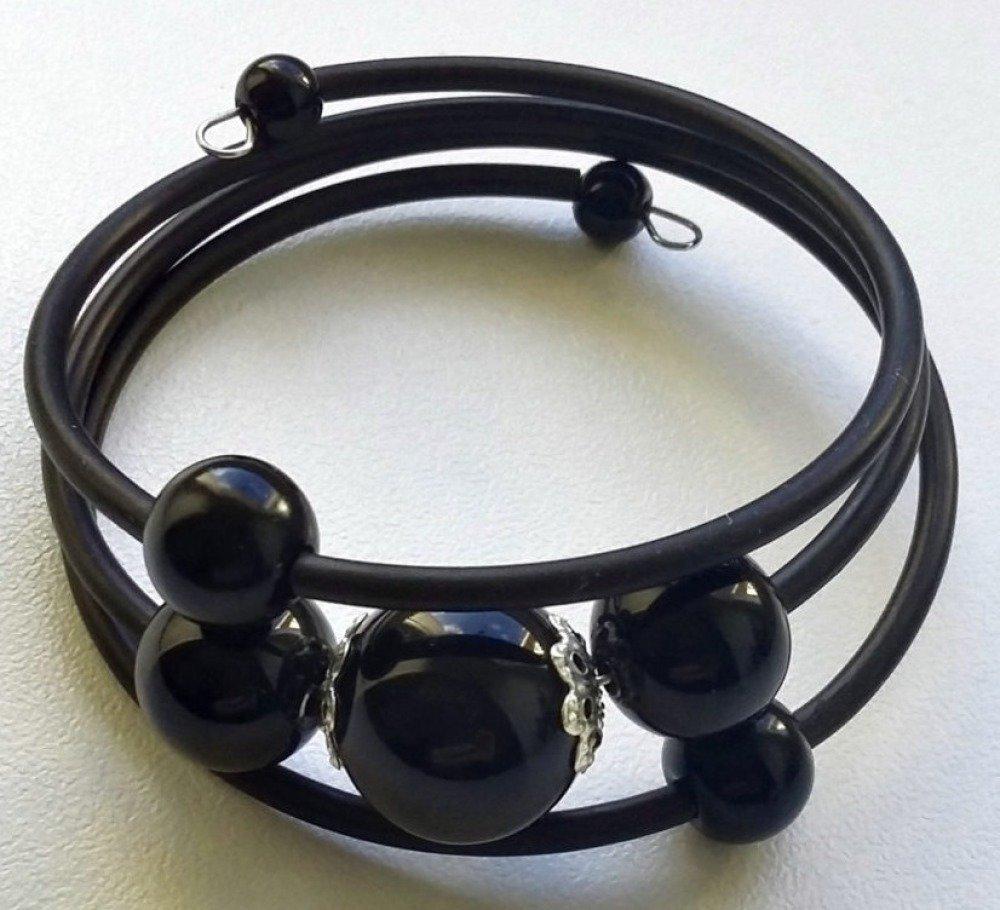 Bracelet noir 3 tours