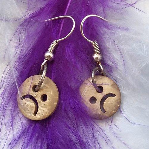 Boucles d'oreilles smiley