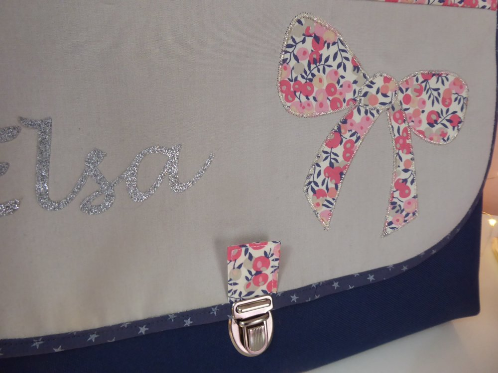 cartable maternelle fille original GF tissu toile motif au choix liberty ....