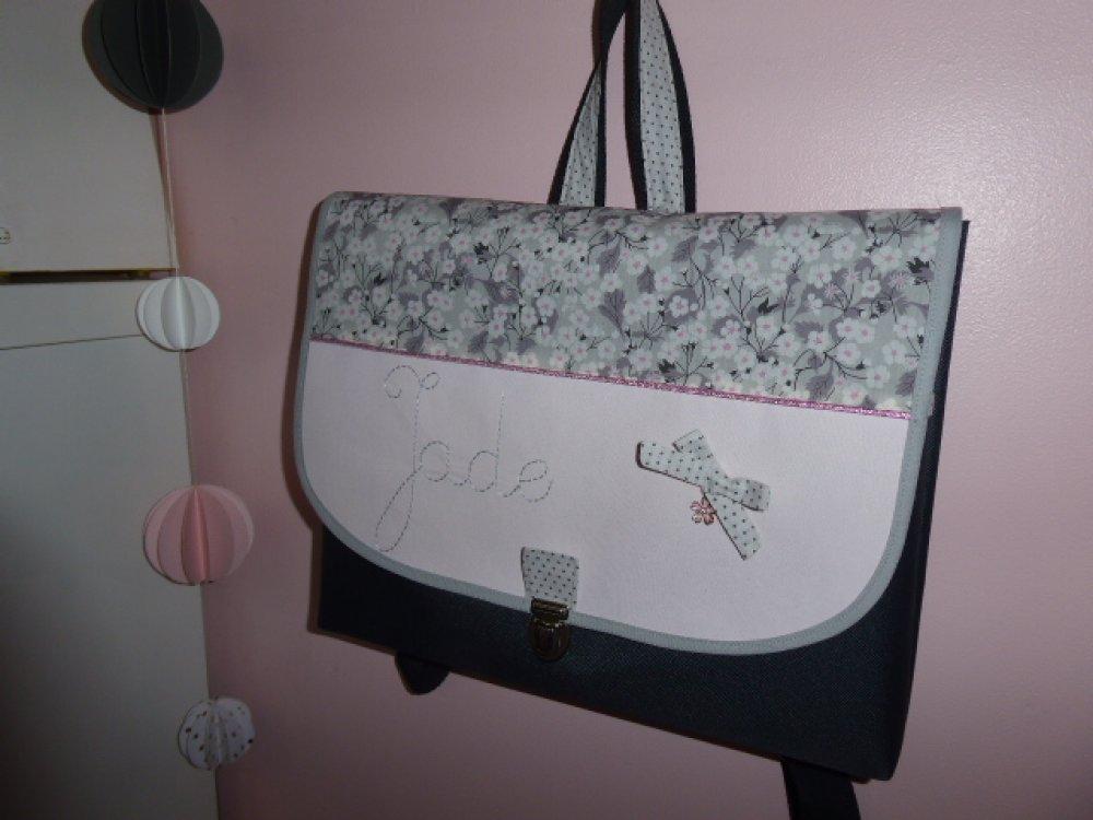 Mini cartable maternelle S Cartable fille personnalisé prénom tissu theme couleur au choix