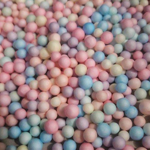 500 boules polystyrène pastel ta