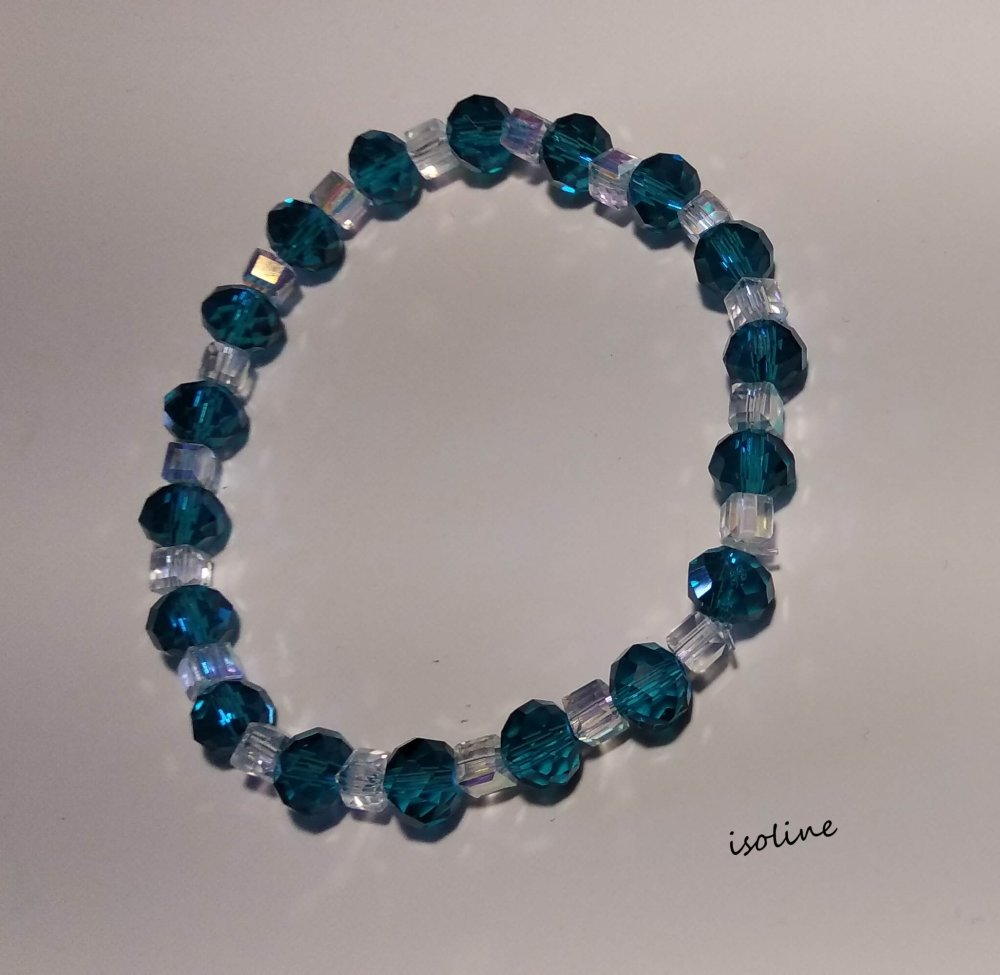 Bracelet  blanc et  bleu