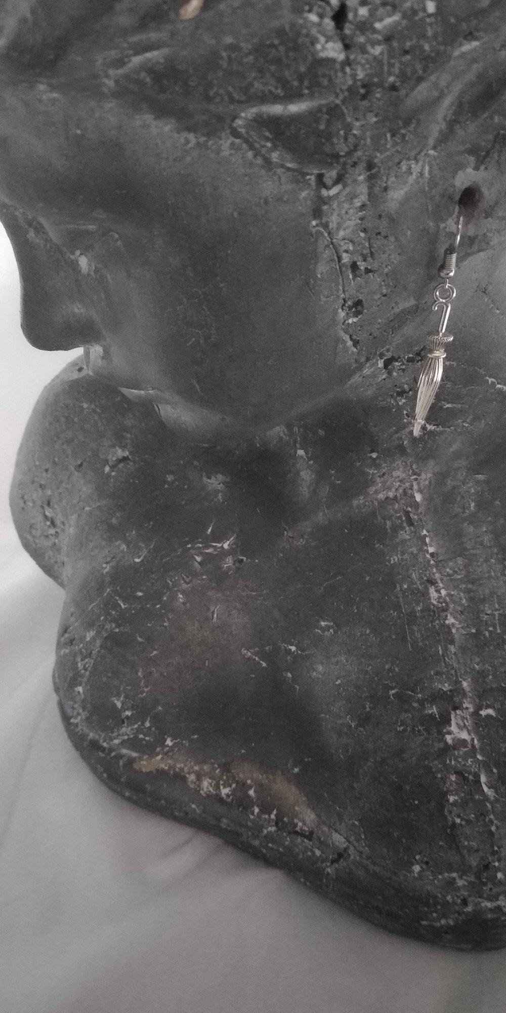Boucle d'oreille argenté