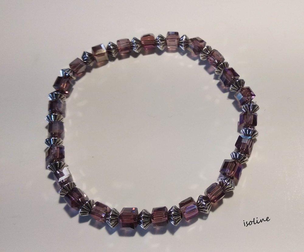 Bracelet orné de perle rose