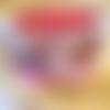 Trousse à maquillage en coton imprimé japonais rose