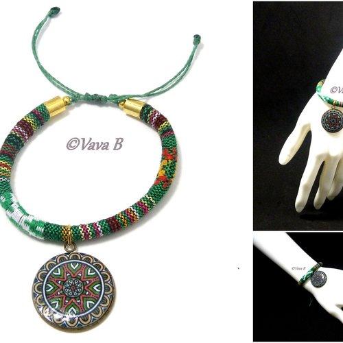 Bracelet ethnique mandala -  ref. br 0400