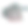 Fait-main 40 euros, manteau et bonnet bébés filles léa, gris motifs fleurs taille 6 à 12 mois mode automne-hiver 2020-2021