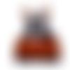 Fait-main jarakymini : robe à bretelles bébés filles tricot laine multicolore t 1 à 3 mois collection automne hiver 2020-2021