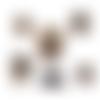 Doudou chien en peluche et son masque coronavirus marron  fait-main sur-mesure au crochet