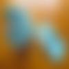 Ensemble de trousse de toilette et sac à linge en toile bleue, motif: coraux