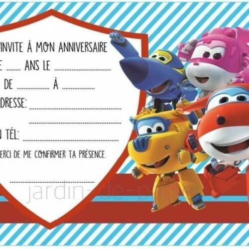 carte d invitation anniversaire garcon Carte d'invitation anniversaire enfant à imprimer superwings   Un