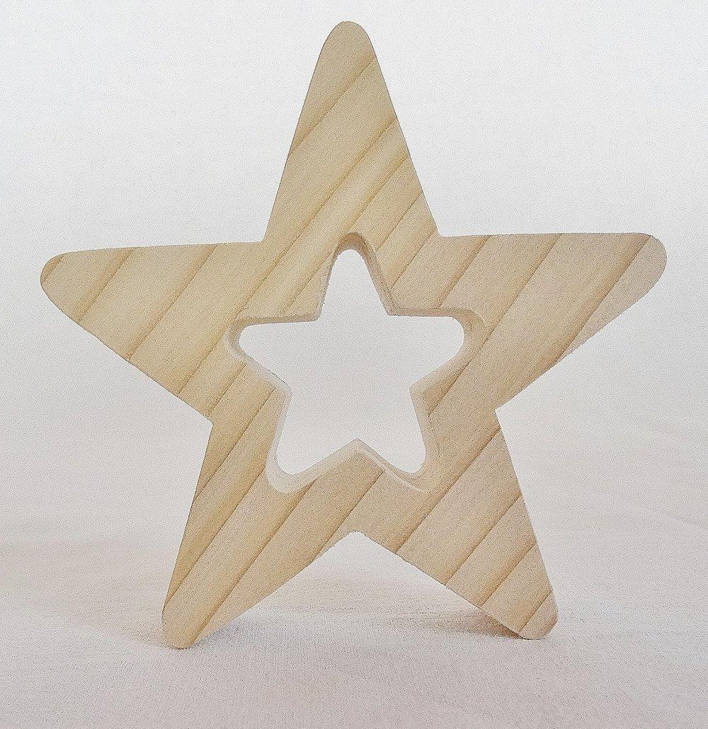 étoile décoration sapin de noël, décoration, suspension de sapin, rond de serviette en bois d'épicéa