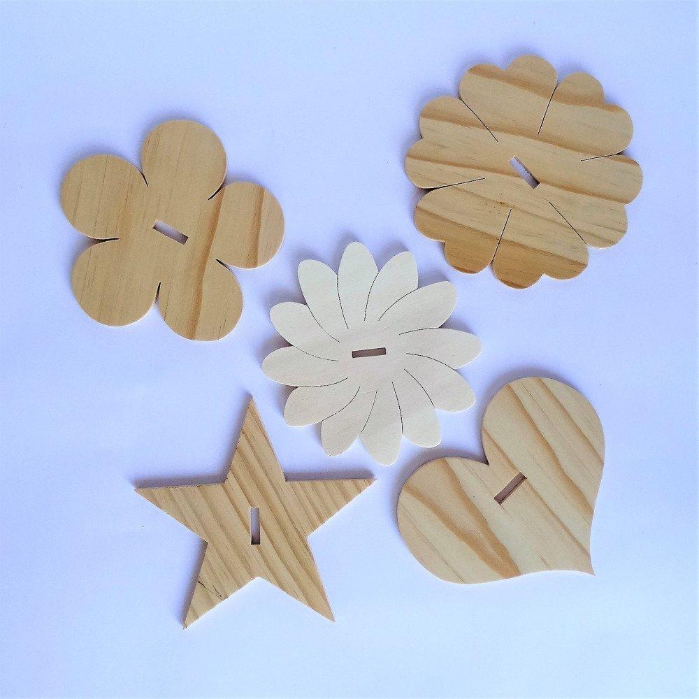 Arbre à bijoux en bois peuplier 5 mm modèle fleurs et oiseaux. Support au choix. Décoratif et pratique, permet de ranger tous vos bijoux