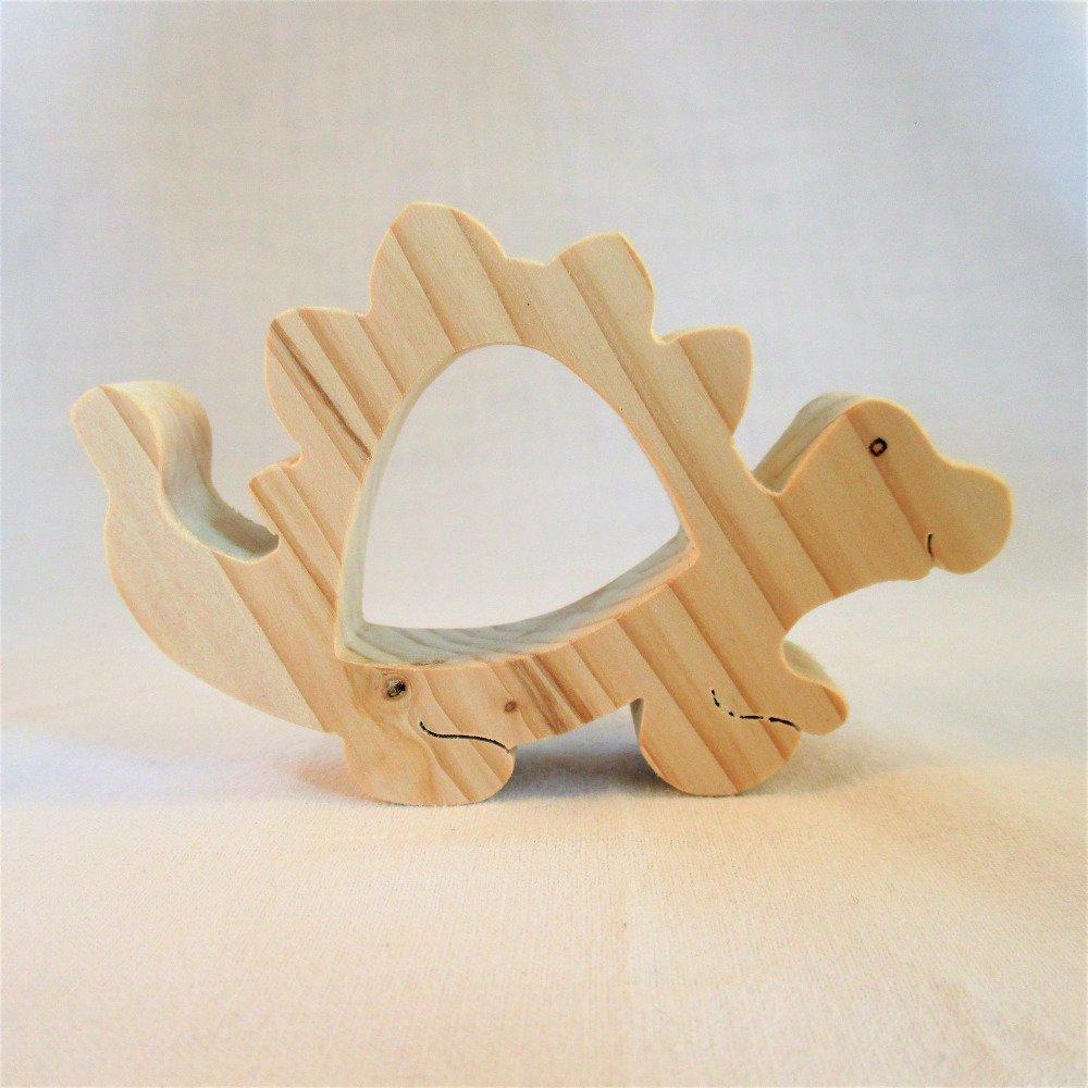 """ROND DE SERVIETTE en bois, épicéa naturel """"Dinosaure"""", décoration de table pour (mariage, baptême"""