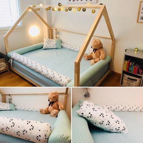Je fais vos boudins coussins traversins, tour de lit pour lit cabane à vos mesures ! barrière de lit.