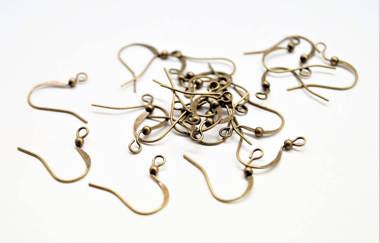 20 supports boucle d'oreilles hameçon bronze antique 19*12 mm