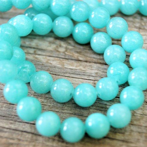 10 perles amazonite 10 mm