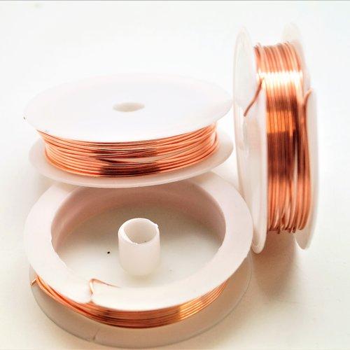 Bobine de fil de cuivre 0,25 mm or rose