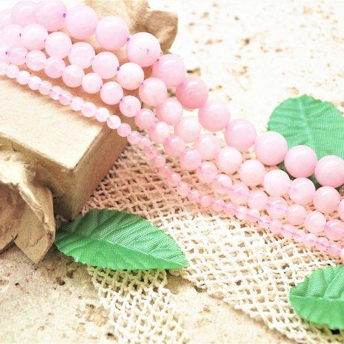 Perles quartz rose rondes 10 mm