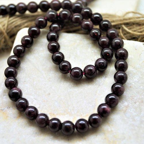 10 perles grenat rouge 6 mm