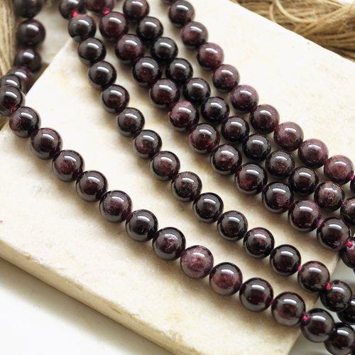 10 perles grenat rouge 8 mm