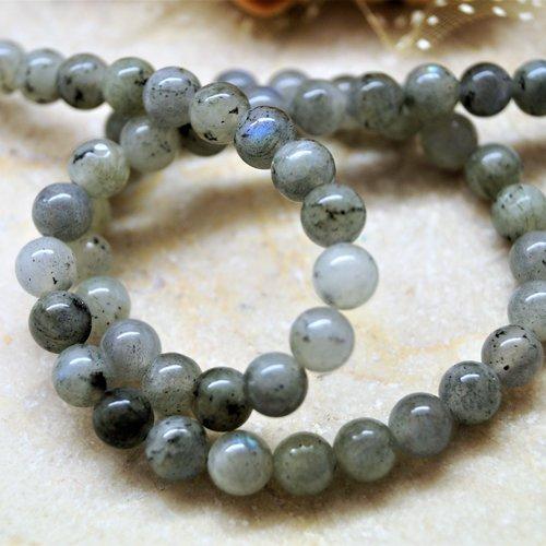 10 labradorite perle ronde grise 6 mm