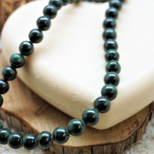 5 perles malachite 4 mm