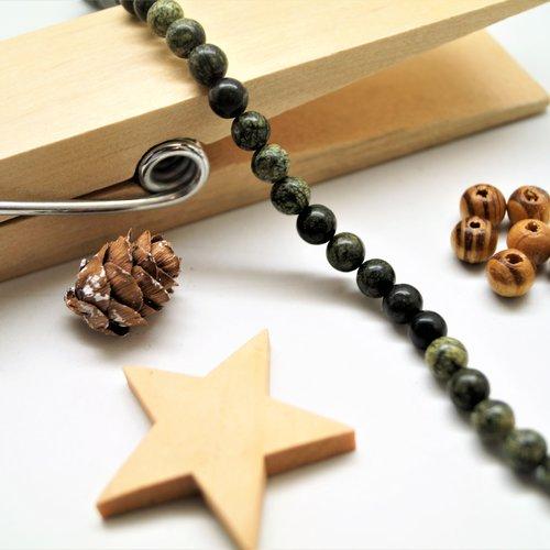 Perles serpentine 6 mm