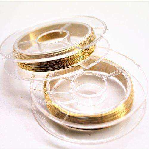 Fil de cuivre doré 0,3 mm en bobine de 10 mètres