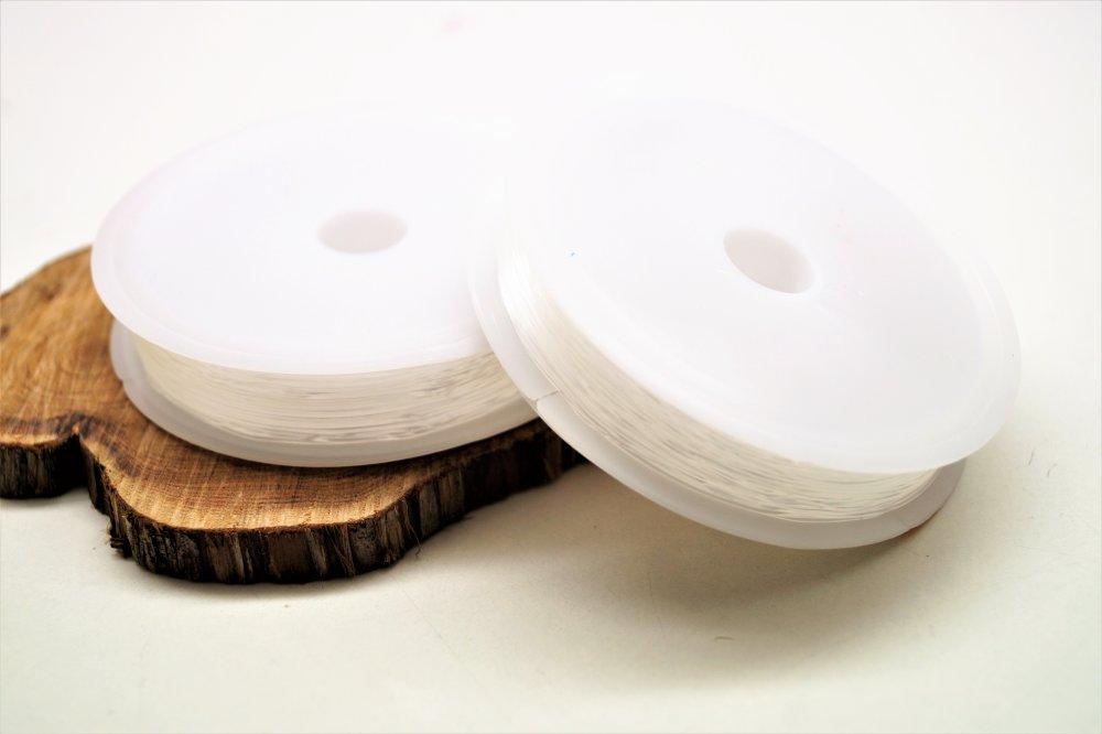 Fil élastique transparent 0,5 mm en bobine de 10 mètres