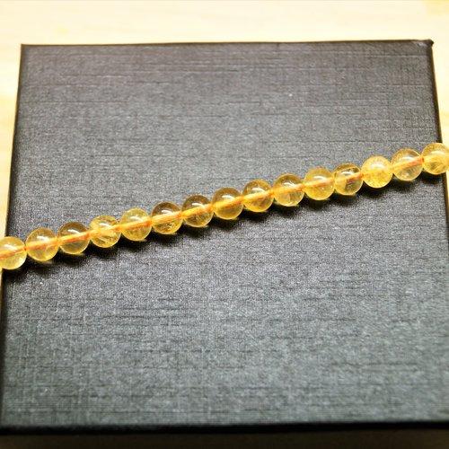 10 perles citrine naturelle ronde 6 mm