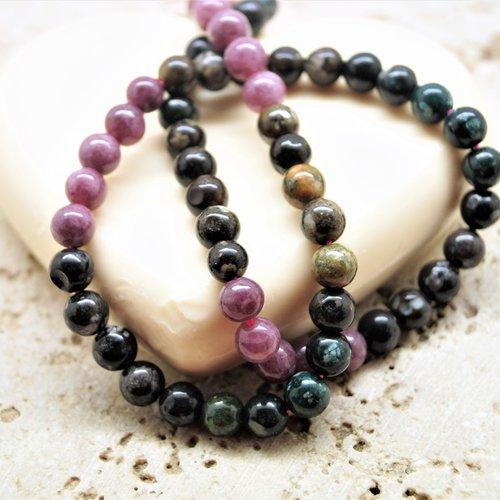 10 perles tourmaline 6 mm