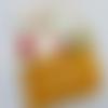 """Protège carnet de santé personnalisable en coton jaune orangé """"petit chaperon rouge"""", lettrage flex"""